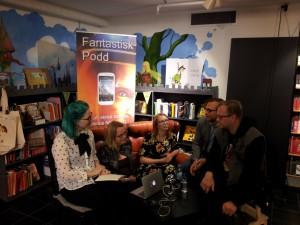 Fantastisk podd live från sfbok butiken fre 26/9 2014